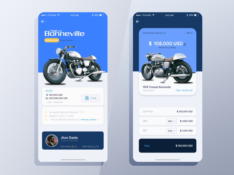 Buy & Trade X App inspiration concept dashboard motocycle design app design app iphone mobile ui mobile ui design ui