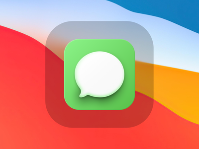 Messages Big Sur Mac Icon shadow gradient neumorphism app figma illustration osx mac iconography big sur icon