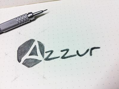 Azzur - Branding, logo sketch - final version sketch branding azzur brand logo pencil gaming pro gaming smite