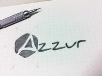 Azzur - Branding, logo sketch - final version