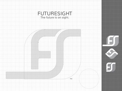 FutureSight - Brand Icon Production brand branding icon logo futuresight rebranding typo sketch process