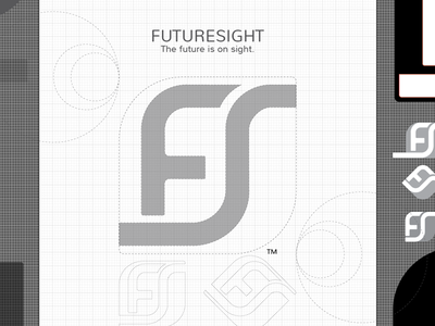 FutureSight - Logo futuresight branding rebranding typo logo sketch process