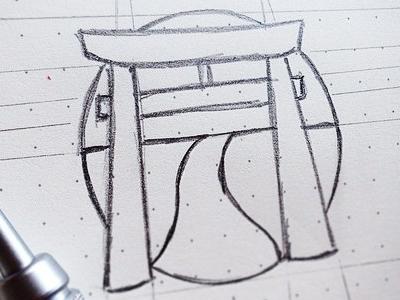 Katowicka Sekcja Kendo   Rj For Bw   Final Sketch japan icon identity sketch logo kendo