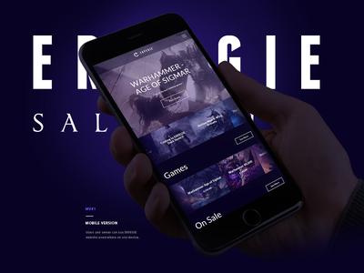 ERPEGIE - Gaming Salon Visuals interaction wireframes salon gaming architecture responsive web design ui ux