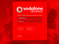Vodafone Enterprise - Redesign Concept Login