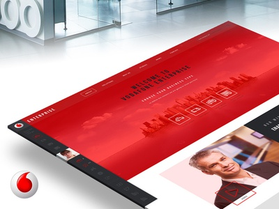 Vodafone Website Redesign - Isometric interface vodafone web design ux ui isometric mockup