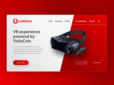 Blockchain VR experience for Vodafone vodafone blockchain ar vr ui ux