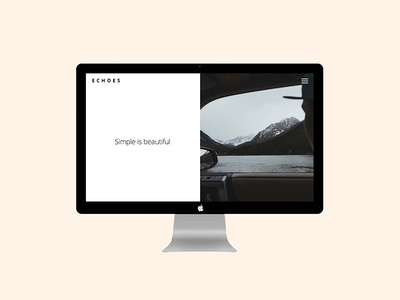 ECHOES   Minimal free 2017 template HTML bootstrap Download