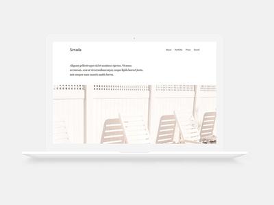 Nevada   Minimal free html single page template 2017