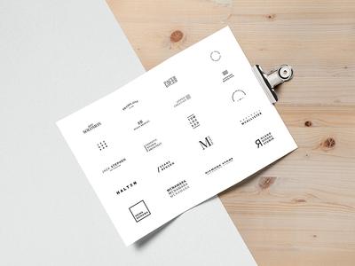 Minimalista   Free 2017 minimal logo Pack