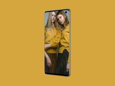 Free Perspective Samsung Galaxy S10 Mockup