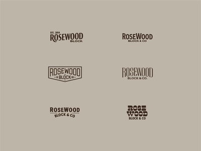 RoseWood Block Concpets logotype wood logo handtype process vectormachine handlettering hashtaglettering lettering
