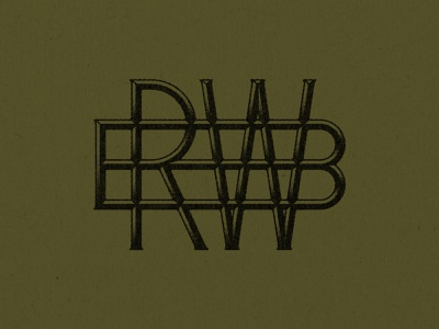 RBW Monogram monogram texture thevectormachine vector process handtype vectormachine handlettering hashtaglettering lettering