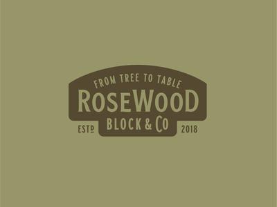RoseWood Block Logo