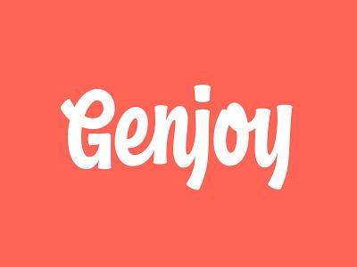 Genjoy Games logotype branding logo genjoy thevectormachine vector handtype vectormachine handlettering hashtaglettering lettering
