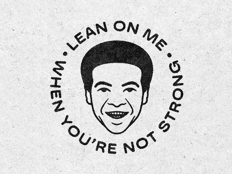 Lean On Me bill withers portrait illusration