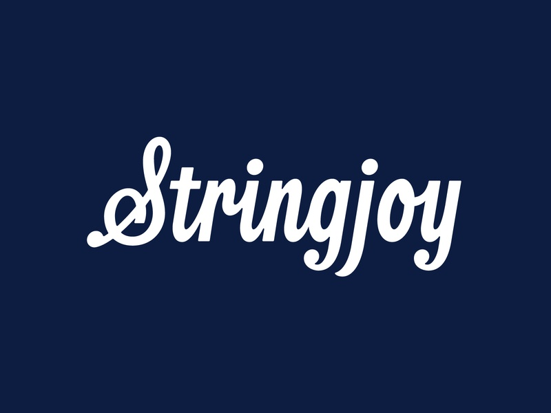 Stringjoy Logo guitar stringjoy strings thevectormachine vector handtype vectormachine handlettering hashtaglettering lettering