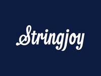Stringjoy Logo guitar stringjoy strings thevectormachine vector handtype vectormachine handlettering hashtaglettering lettering