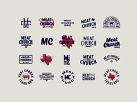 Meat Church Badge Concepts badge design bbq texas texas bbq badge process handtype vectormachine handlettering hashtaglettering lettering