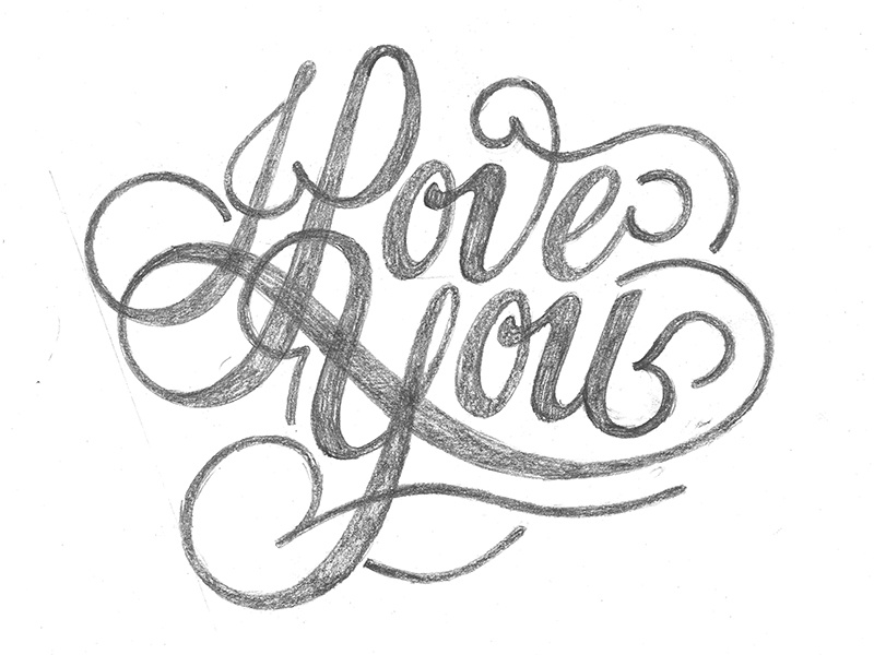 This is an image of Declarative I Love You Drawing