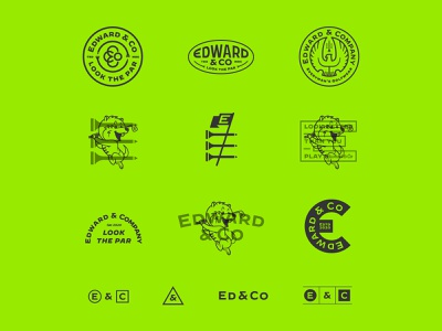 Edward & Co - Additional Design Assets ed and co edward and co look the par gopher mascot badge design badge