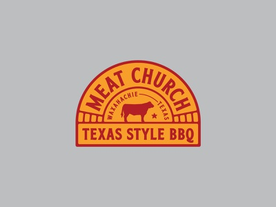 Meat Church Arched Patch bbq badge patch