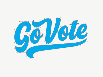 You Bezier Go Vote go vote vote vectormachine handlettering hashtaglettering lettering