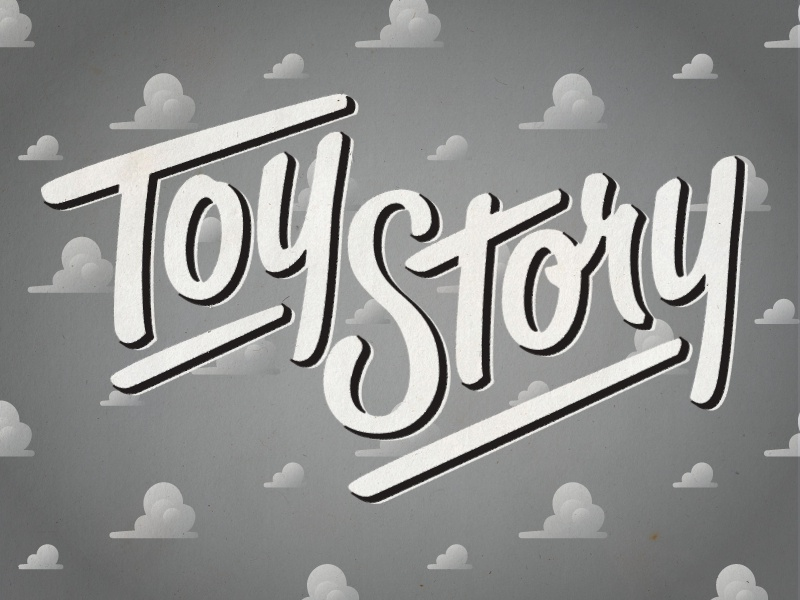 Toy Story-WIP letting hashtaglettering toy story
