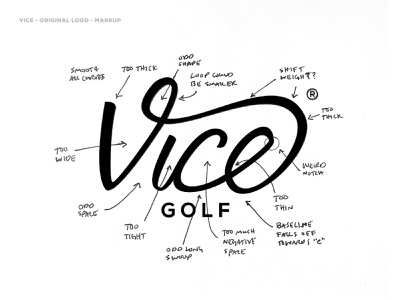 New Vice Golf Wordmark Concept logo branding process vectormachine vice golf golf