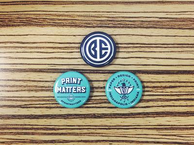 Print Matters Buttons
