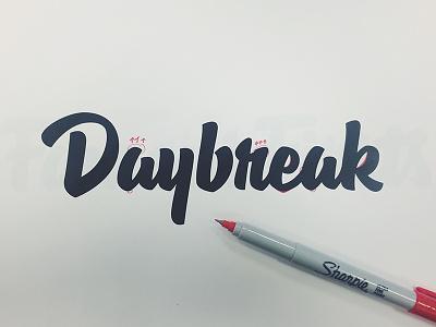 Daybreak Process lettering hashtaglettering process handlettering vector vectormachine