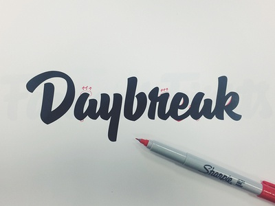 Daybreak Process lettering hashtaglettering process handlettering vector vectormachine