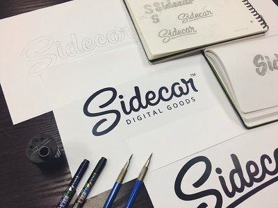 Sidecar Logotype lettering hashtaglettering process handlettering vector vectormachine focus lab made by sidecar