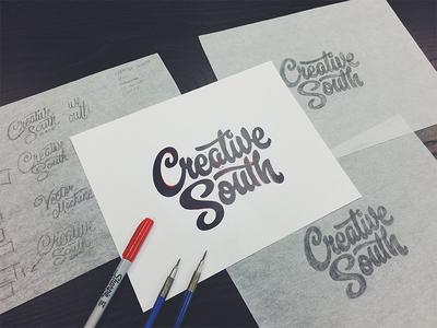 Creative South T-shirt Process handtype vectormachine vector handlettering process hashtaglettering lettering creativesouth