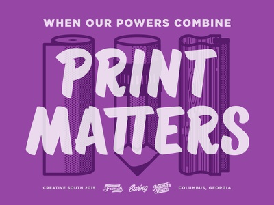 Print Matters - Creative South lettering handlettering printmatters frenchpaper mamasauce illustration icons paper pencil print squeegee creativesouth