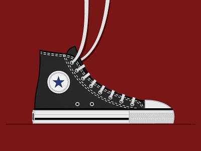 Bigger Picture Show Poster Final shoes biggerpictureshow vectormachine vector converse chucks illustration lettering