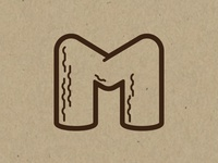 Log Letter M