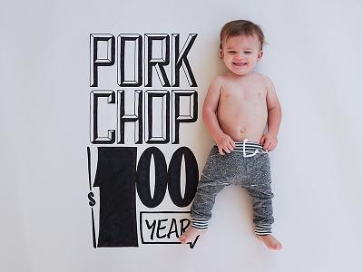 Pork Chop nixongrowsup signpainter family nixon handtype handlettering hashtaglettering lettering