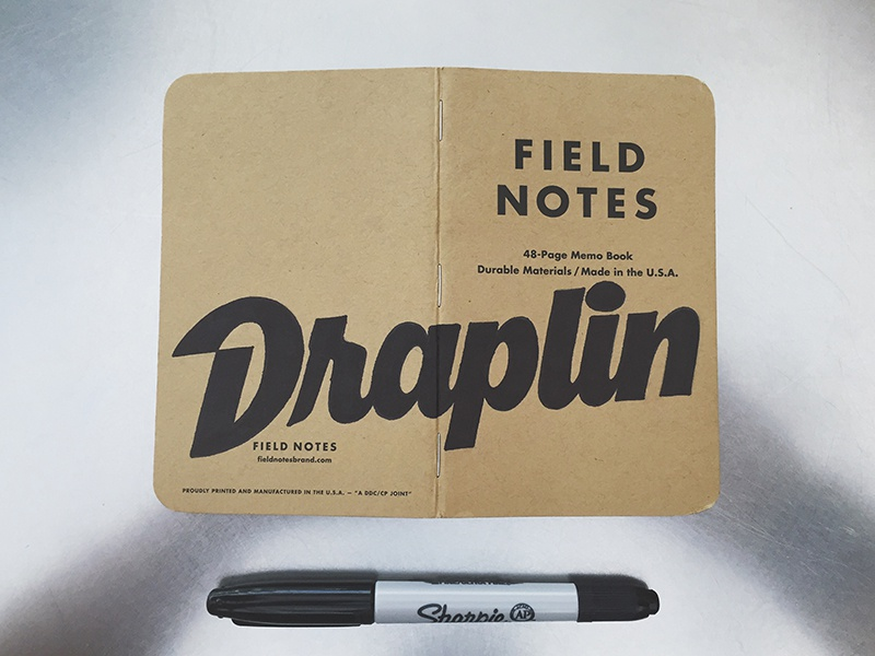 Field Notes Letters - Draplin hashtaglettering fieldnotes fieldnotesletters handlettering lettering draplin
