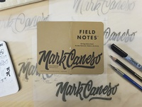 Field Notes Letters - Mark Caneso