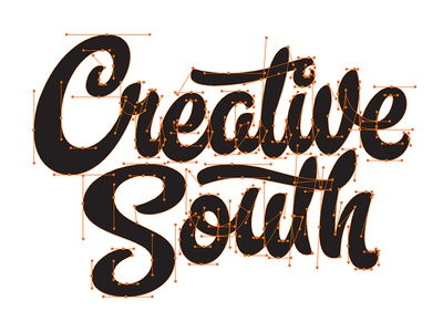 Creative South 2016 creativesouth beziercurves vectormachine process handtype handlettering hashtaglettering lettering