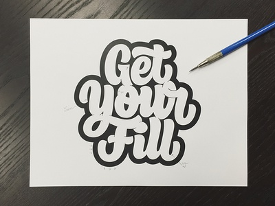 Get Your Fill - Initial Vectors creativesouth beziercurves vectormachine process handtype handlettering hashtaglettering lettering