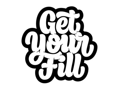 Get Your Fill - Final creativesouth beziercurves vectormachine process handtype handlettering hashtaglettering lettering