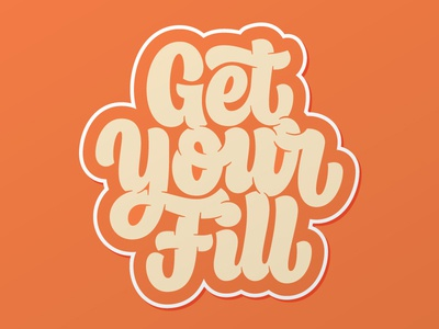 Get Your Fill - Peachy creativesouth beziercurves vectormachine process handtype handlettering hashtaglettering lettering
