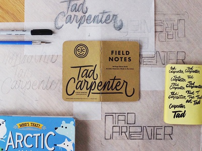 Field Notes Letters - Tad Carpenter
