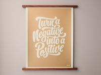 Negative Positive Poster