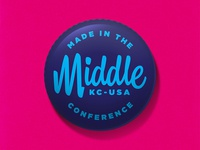 Made in the Middle Inch x Inch Button
