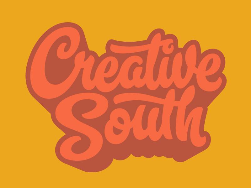 Creative South Logo logo script hashtaglettering handlettering lettering creativesouth