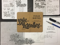 Field Notes Letters - Kyle Letendre