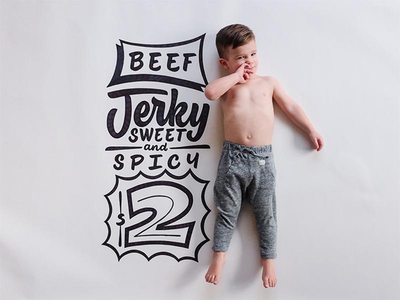Beef Jerky nixongrowsup signpainter nixon lettering hashtaglettering handtype handlettering family
